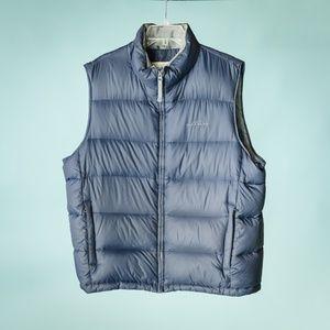 Eddie Bauer XL Blue Goose Down Insulated Vest